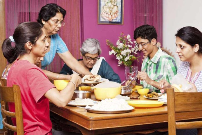 family-having-meal-together