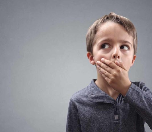 child telling lies